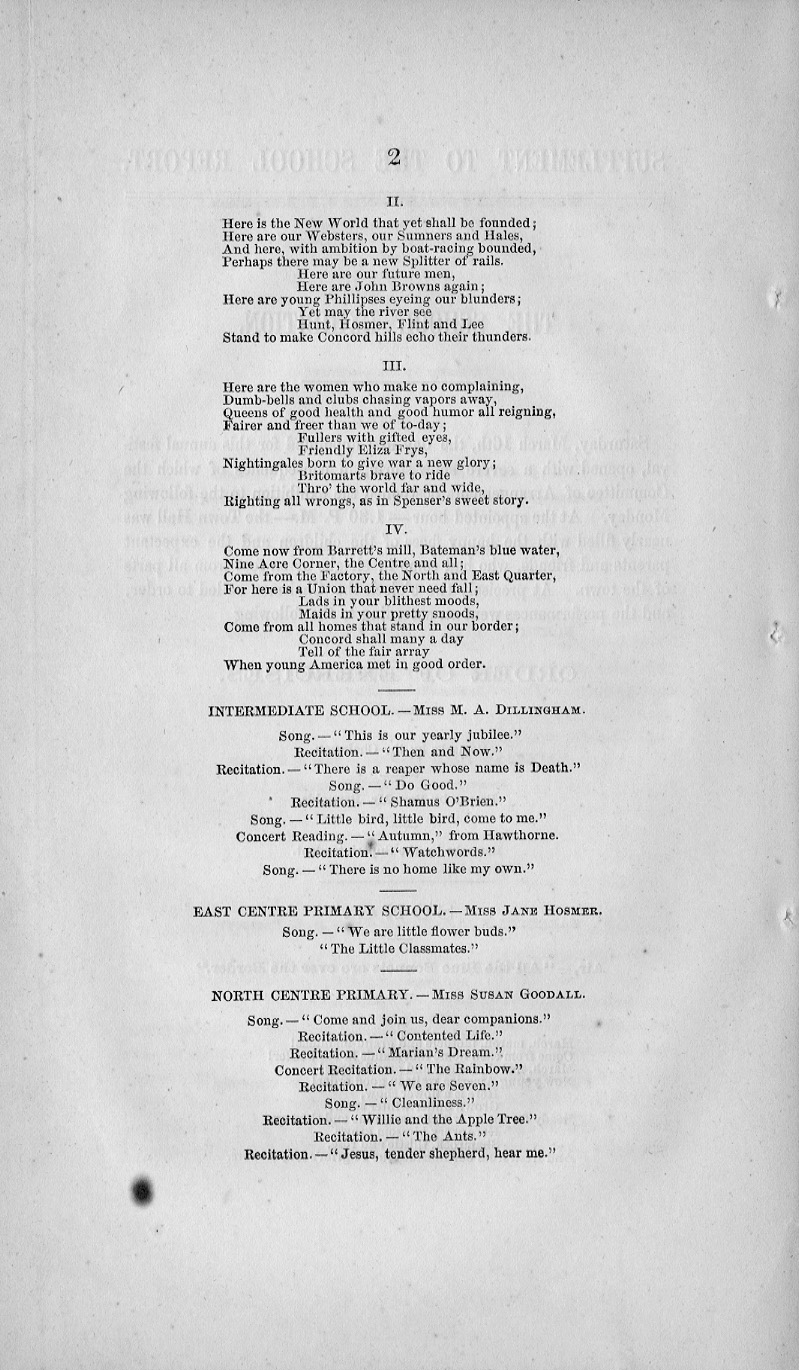 Scool Report Supplement 1861