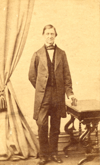 R. W. Emerson, standing
