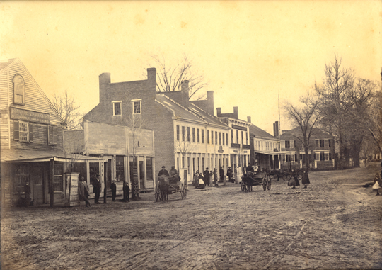 Concord Center, south side, circa 1865