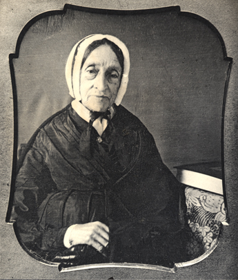 Photograph of Ruth Haskins Emerson in old age, from Emerson family photograph album.