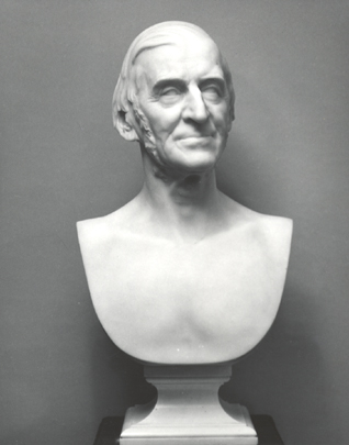 Daniel Chester French. Ralph Waldo Emerson, carved 1883/84, from original clay model 1879.  Marble bust.