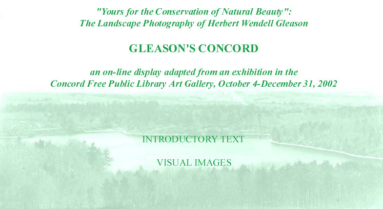 Herbert Wendell Gleason Front Page to the on-line exhibit