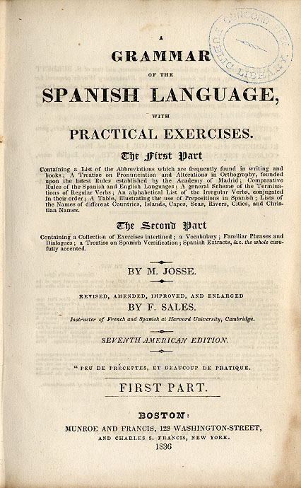 Grammar of the Spanish Language