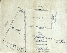 109 Plan of the Cottage House Lot on Main Street, and a Lot on Monroe Street Belonging to Daniel Shattuck ...Oct. 6, 1856