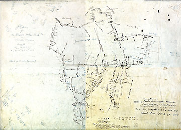 11 Plan of the Noah & Joshua Brooks Farm in Lincoln Mass. ... May 26-8-9-+31st, 1852