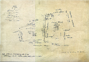 114 Plan of House Lot Concord Mass. Belonging to Daniel Shattuck ... Nov. 13, 1860 (Notation on