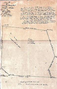 122 Plan of a Piece of Swamp Land in Bedford Mass. Belonging to Cyrus Stow of Concord ... Feb. 20 to 27, 1851