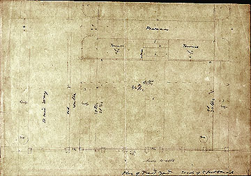 125b Stow's Yard Plan of Front Yard [n.d.; ca. Oct. 1851]