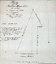 129 Plan of the Yellow House Lot, so called ... May 25, 1850