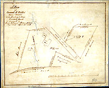150a Plan of Samuel A. Willis' House & Woodlot at the Factory Village Concord Mass. Surveyed by Henry D. Thoreau & William D. Tuttle May 6, 1859 & Apr. 25, 1864 [not Thoreau ms.]
