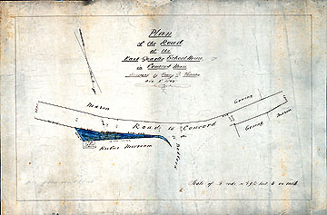 152a Plan of the Road at the East Quarter School ... Nov. 9, 1855