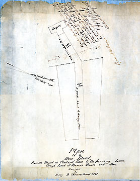 24a Plan of a New Street, from the Depot in Concord, Mass. to the Academy Lane, Through Land of Francis Monroe and Others ... March 1851
