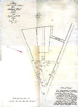 24b  Plan Showing the Relation of a Proposed Street to the Depot and Neighboring Streets ... Sept. 1850