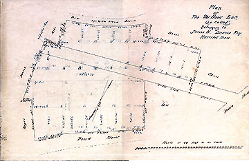 26a  Plan of the McHard Lot (so called) Belonging to James H. Duncan Esq. Haverhill Mass. ...[Apr. 12-29, 1853]