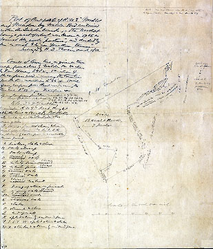 33 Plot of North [?] Part of R.W.E. Woodlot and Meadow by Walden Pond Contained within the Lincoln Bounds ...March 1850