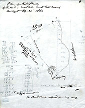 Plan of North Part of R.W.E. Woodlot Burned Last March ... Apr. 30, 1860