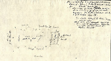 4Plan ... of a Small Woodlot in ... Concord--Belonging to Prescott Barrett ... June 10, 1859