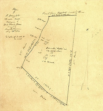 45 Plan of a House Lot in Lincoln Mass. Belonging to Miss Maria Green ... Aug. 31, 1854