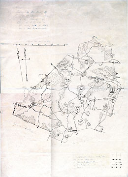 Plan of the Town of Lincoln in the County of Middlesex from Survey Made in 1830 by John G. Hale Fayette Street Boston [copy; n.d.]