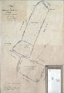 51a  Plan of Nathaniel Hawthorne's Estate in Concord Mass. ... Aug. 20, 1860