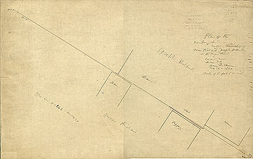 Plan of the Boundary Line Between House Lots of Moses Prichard and Joseph Holbrook on N. Main Street in Concord Mass. ... May 12, 1860