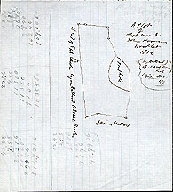 68 A Plot of Abel Moore & John Hosmer's Woodlot 1842 (by Hubbard) ... Copied Dec. [18]57