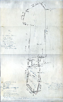 74 Plan of the Kettell Farm (so called) in Concord Mass. Belonging to Samuel Staples ... Apr. 8 & 9, 1858 ...