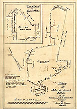 Plan of John Le Grosse's Farm in the North-West Part of Concord, Mass. ... Jan. 1853 [Note: Smaller plan inset upper left corner: