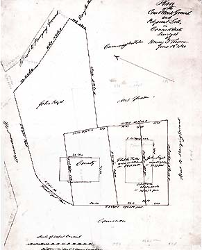 7a Plan of the Court House Grounds and Adjacent Lots ... June 13, 1850