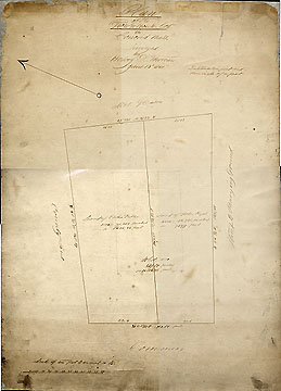 7d  Plan of the Town House Lot ... June 13, 1850