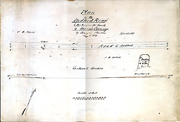7gPlan of the Bedford Road at Moore's Swamp (Between the Fences) ... May 3, 1859