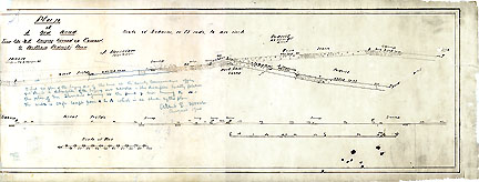 7iPlan of a New Road from the N.E. Burying Ground in Concord to William Pedrick's House ... July 1853