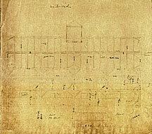 80a Plans for a cow barn and stanchion to be built in Northboro; Dec. 16, 1850]: [Cow barn] West Side