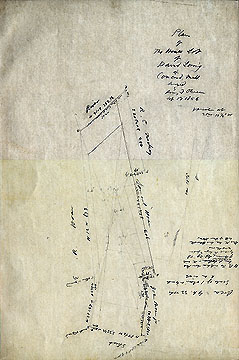 82 Plan of the House Lot of David Loring in Concord, Mass. ... Sep. 17, 1856