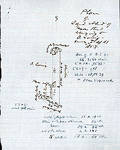 Plan of Land at End of Texas Street Belonging to D. Loring ... Sep. 13, 1856 (Note: Date amended from 1853)