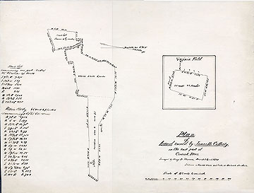 Plan of Land Owned by James McCafferty, in the East Part of Concord, Mass. ... March & April 1851