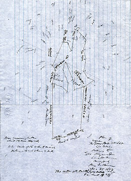 9  Plan of the [Wyman/Goose Pond] Woodlot (so called) Belonging to Geo[rge] Heywood Concord Mass. ...Dec. 25, 1857