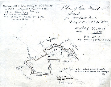 91 Plan of George Minot's Land on the Mill Brook ... Aug. 30 & 31, 1860