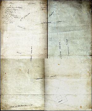 92b Plan of a Piece of land Near the Depot in Concord, Mass. Belonging to Francis Monroe & Others; With