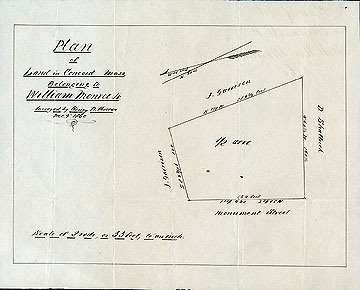 93a Plan of a Piece of Land in Concord Mass. Belonging to William Monroe Jr. ... Dec. 4, 1860