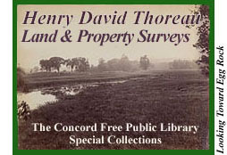 Henry David Thoreau Land Surveys - Concord Free Public Library Special Collections