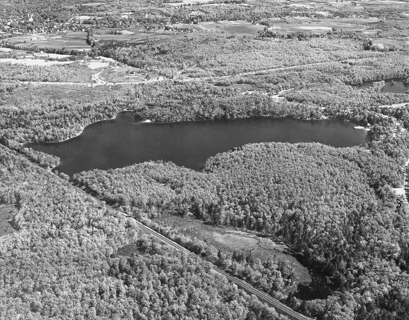 New England Survey Service.  Aerial photograph of Walden Pond