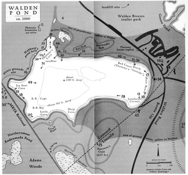 Map of Walden Pond