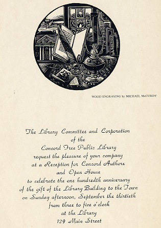 The Library Committee and Corporation of the Concord Free Public Library ...