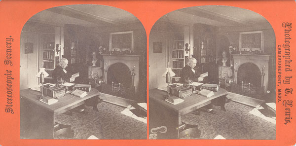 Bronson Alcott in study of Orchard House