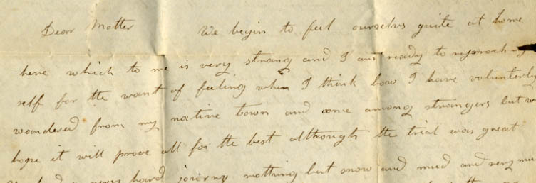 ALS, L.P. Hosmer to Dear Mother, [1830] Dec. 21