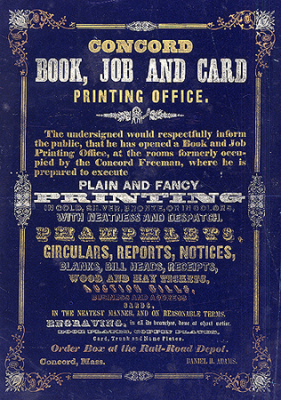 Concord Book, Job and Card Printing Office ...