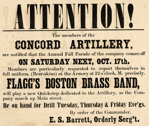 Attention! Members of the Concord Artillery ...