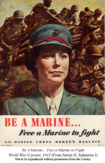 Be A Marine... WWII poster