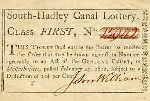 South Hadley Canal Lottery ticket